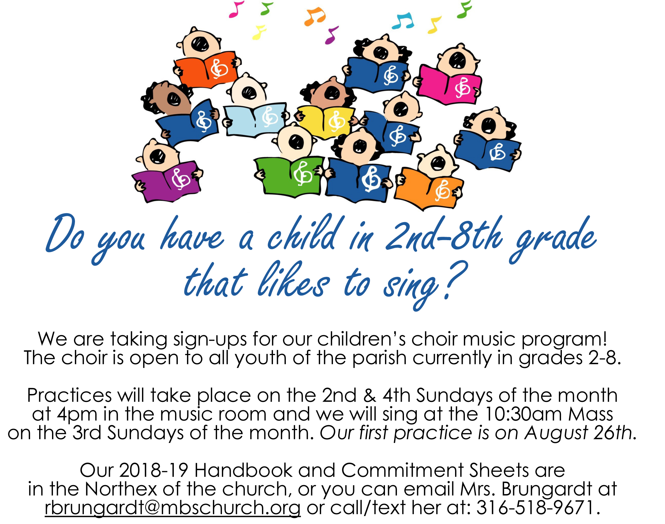Children's Choir Wants to Hear from You! - Blessed Sacrament