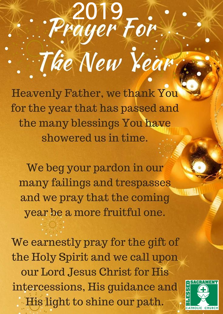 New Year Blessings From Blessed Sacrament Blessed