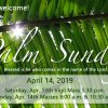 JOIN US for Palm Sunday Services