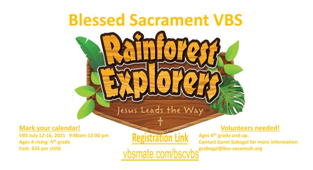 Vacation Bible School is BACK!  Save the Date:  July 12-16th