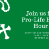 Pro-Life Holy Hour, Oct. 11th