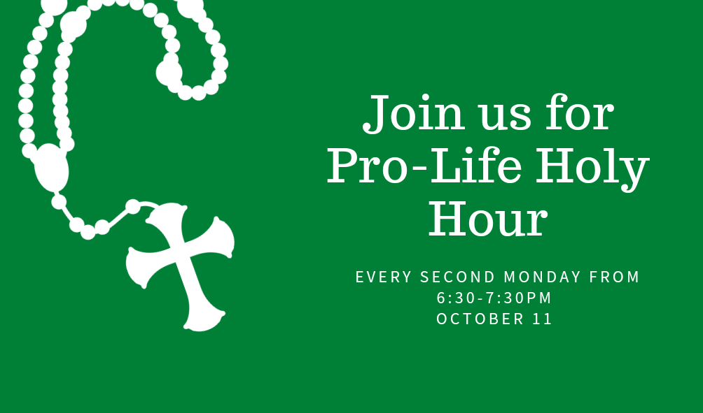 Pro-Life Holy Hour, Oct. 11th  6:30p-7:30p