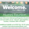 WELCOME Alumni Reunion Oct. 24th